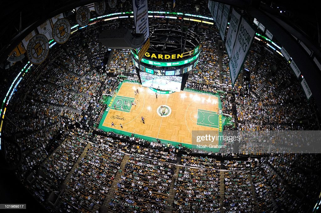 The Boston Garden during Game Four of the 2010 NBA Finals on June 10 2010 at TD Garden in Boston Massachusetts NOTE TO USER User expressly...