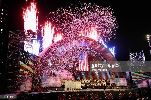 The Boston Pops Fourth of July Fireworks Spectacular rehearsal on July 3 2012 in Boston Massachusetts