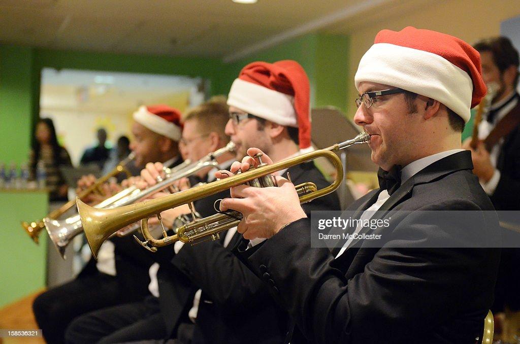 The Boston Pops perform during their holiday concert at Boston Children's Hospital on December 18, 2012 in Boston, Massachusetts.