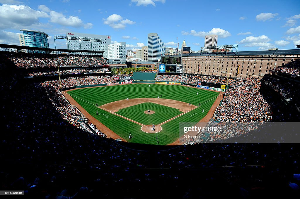 The Boston Red Sox play against the Baltimore Orioles during the fifth inning at Oriole Park at Camden Yards on September 29, 2013 in Baltimore, Maryland.