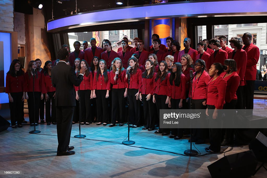 AMERICA - The Boston's Childrens Chorus performs live on 'Good Morning America,' 4/17/13, airing on the ABC Television Network on the ABC Television Network. BOSTON CHILDREN