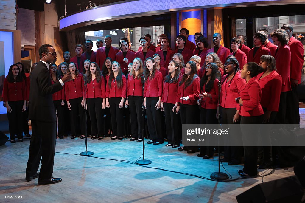 AMERICA - The Boston's Childrens Chorus performs live on 'Good Morning America,' 4/17/13, airing on the ABC Television Network on the ABC Television Network. CHORUS