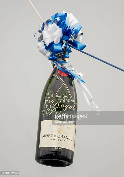 The bottle of Champagne Catherine Duchess of Cambridge smashed during the Princess Cruises ship naming ceremony at Ocean Terminal on June 13 2013 in...