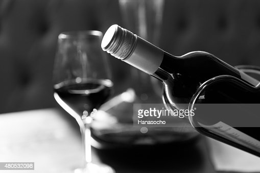 The bottle of wine : Stock Photo