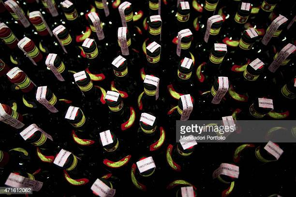 'The bottles of Brunello di Montalcino made at Fattoria dei Barbi Montalcino Italy October 2005 '