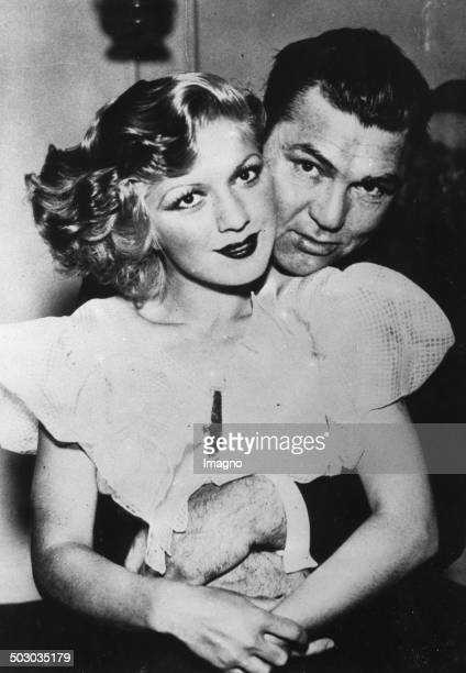 The boxer Jack Dempsey with his new wife Hannah Williams 22th July 1933 Photograph