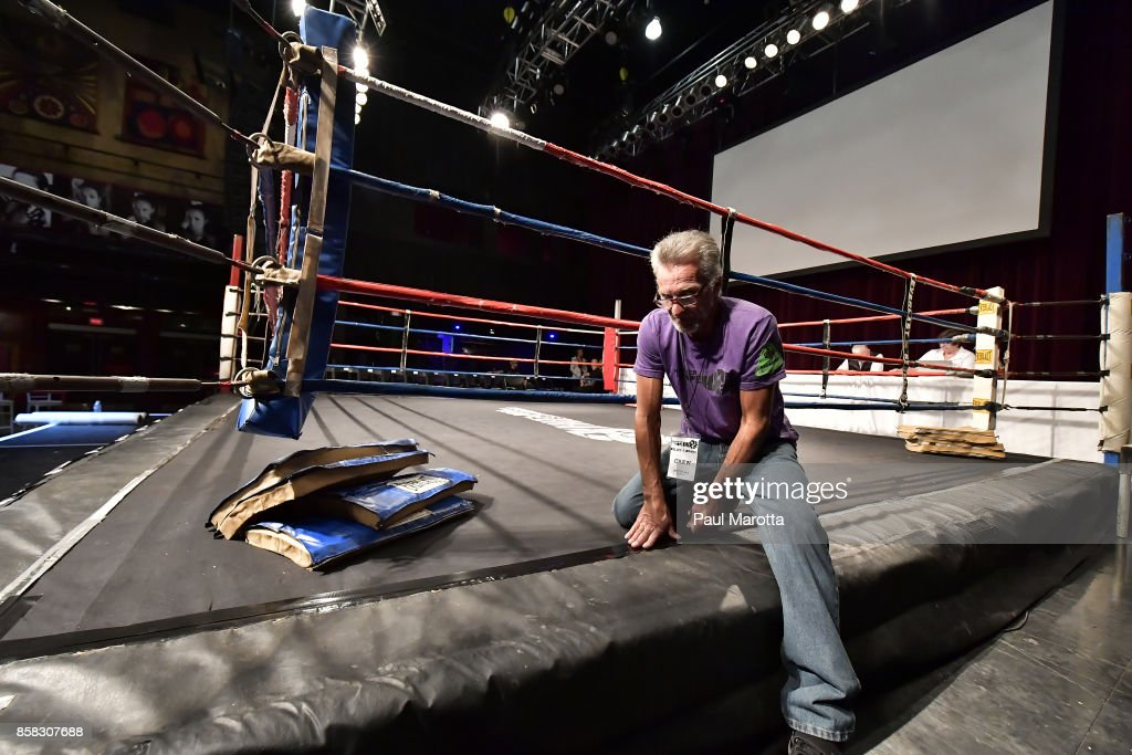 The boxing ring is prepared at the Haymakers for Hope Fundraiser - 2017 Belles of the Brawl at House of Blues Boston on October 5, 2017 in Boston, Massachusetts. Organizers estimate app. $450,000 was raised with this single event in Boston nd more than $7.5m since its inception. Amature boxers train for four months with professional trainers and step into the ring to fight a professionally organized boxing match to raise money and awareness for cancer research.