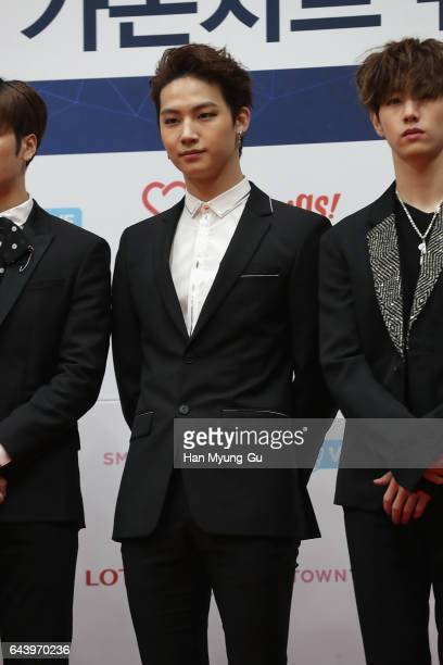 The Boy band GOT7 attends the 6th Gaon Chart KPop Awards on February 22 2017 in Seoul South Korea