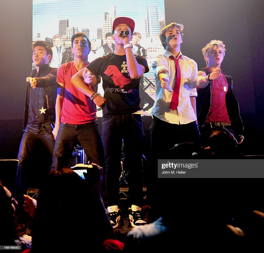 The boy band IM5 performs at the release party for Ashlee Keating's release of her new single and her new video at the Avalon on May 14, 2013 in Hollywood, California.