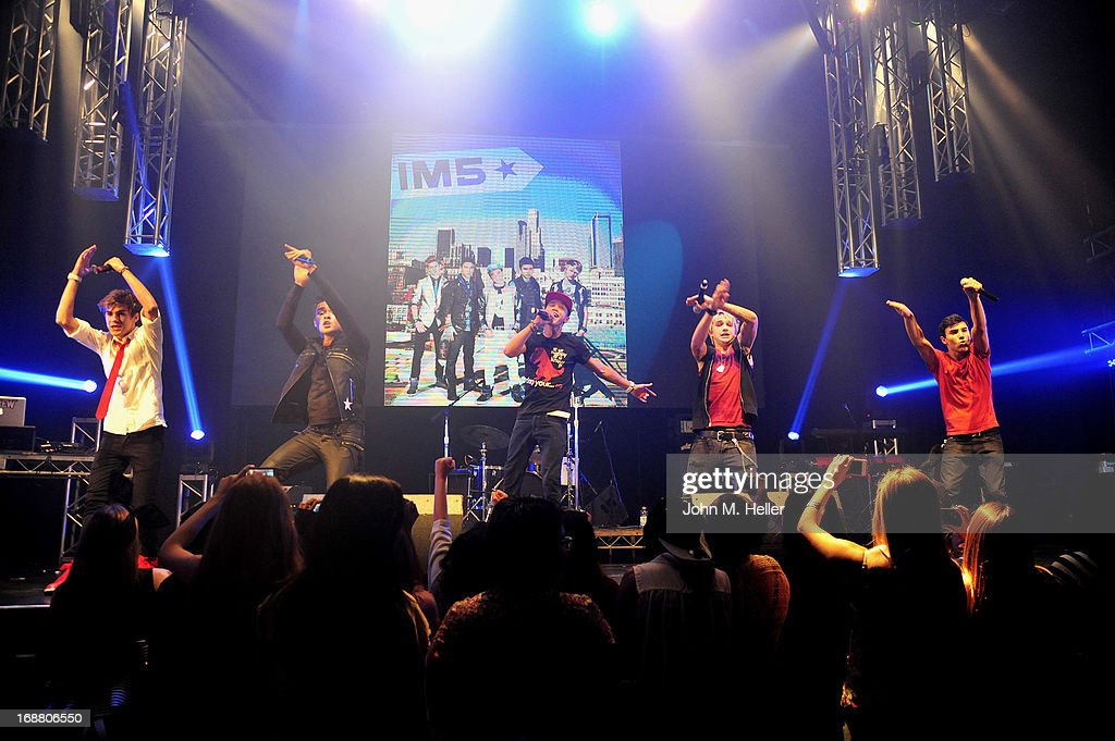 The boy band <a gi-track='captionPersonalityLinkClicked' href=/galleries/search?phrase=IM5&family=editorial&specificpeople=8834094 ng-click='$event.stopPropagation()'>IM5</a> performs at the release party for Ashlee Keating's release of her new single and her new video at the Avalon on May 14, 2013 in Hollywood, California.