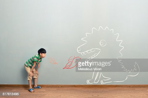 The boy's imaginary world