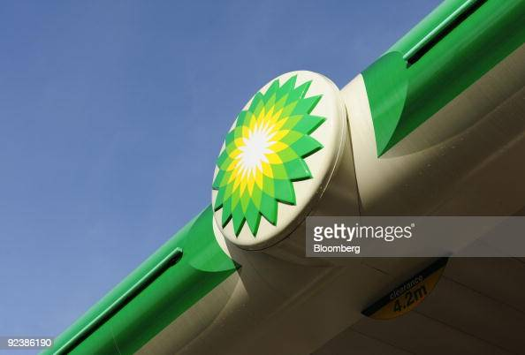 The BP Plc company logo sits at a fuel station in London UK on Tuesday Oct 27 2009 BP Plc Europe�s secondlargest oil company posted thirdquarter...
