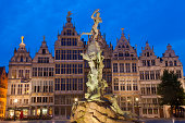 The Brabo Fountain, Main Square, Antwerp, Belgium