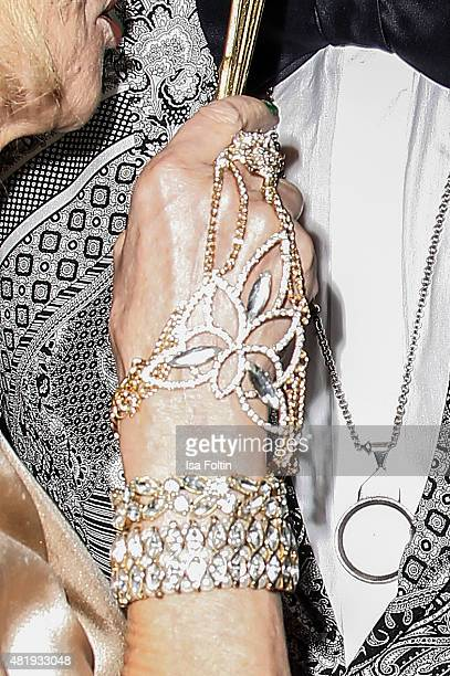 The Bracelet of Thea Gottschlak attends the Bayreuth Festival 2015 Opening on July 25 2015 in Bayreuth Germany