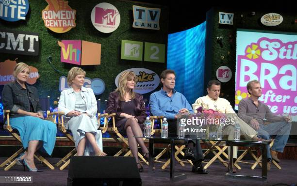 'The Brady Bunch' original cast members Maureen McCormick Eve Plumb Susan Olsen Barry Williams Christopher Knight and Mike Lookinland