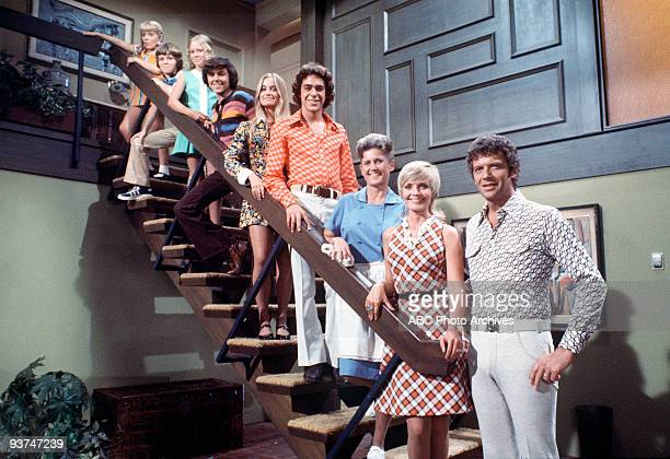 BUNCH 8/3/72 TRACKING The Brady family from top Cindy Bobby Jan Peter Marcia Greg Carol and Mike Alice was the family's housekeeper
