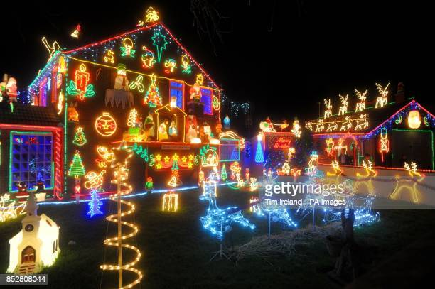 The Brailsford family's Christmas lights display in Okebourne Road Brentry
