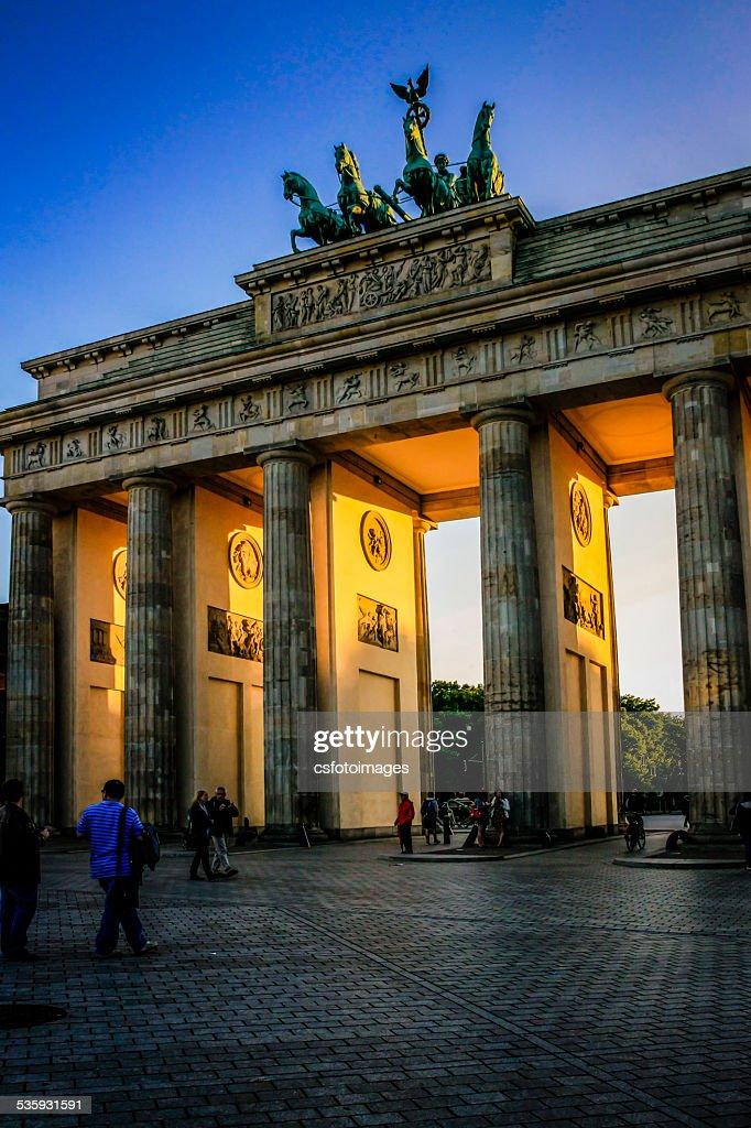 The Brandenburg Gate in Berlin : Stock Photo
