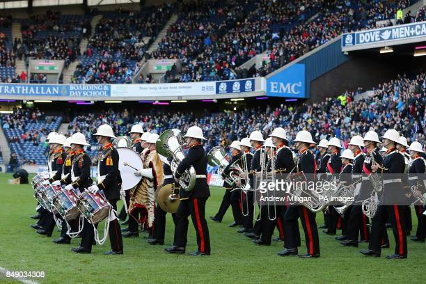 The brass band entertain the crowds prior to the game