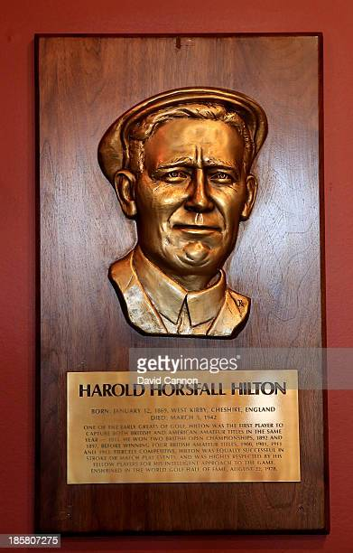 The brass plaque in the entrance hall to the clubhouse of Harold Hilton a past United States and British Amateur Champion who was a member at Royal...