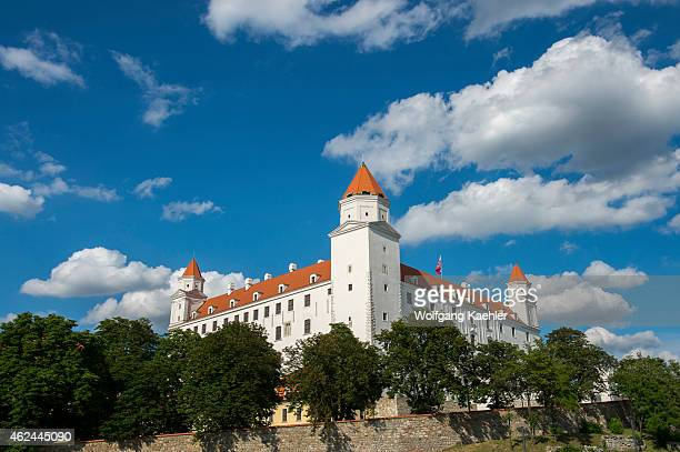 The Bratislava Castle on a hill in Bratislava the capital of Slovakia