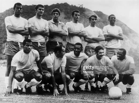 The Brazilian football team 18th May 1970 Carlos Alberto Baldocchi Ado Fontana Piazza and Marco Antonio Jairzinho Gerson Pele Rivelino and Edu