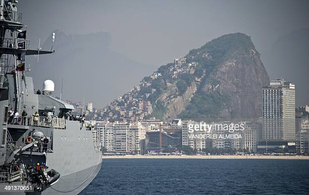 The Brazilian Navy carries out an antiterrorist drill as part of the security measures for the upcoming FIFA 2014 World Cup Brazil 2014 football...