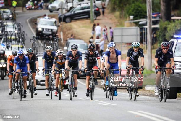 The break away group starting lap 3 on stage 4 at Kinglake as part of the 2017 Jayco Herald Sun Tour on February 05 2017 in Melbourne Australia Chris...