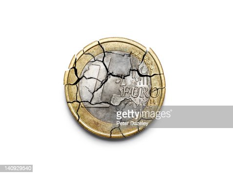 The break up of the Euro : Foto stock