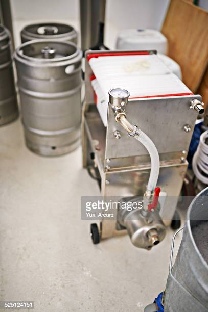 The brewery production line
