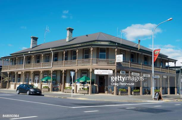 The Brian Boru Hotel, one of Thames' many attractive colonial buildings.