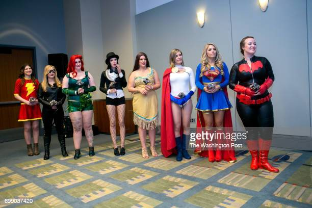 The bridal party for the Mattingly/Merica wedding at AwesomeCon at the Walter E Washington Convention Center in Washington DC on June 17 2017