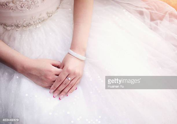 The bride's engagement ring