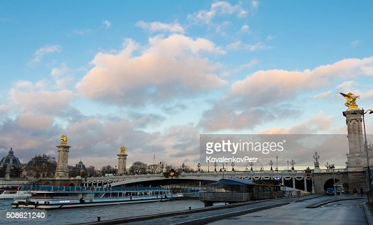 the bridge Alexandre III, Paris, France. : Stock Photo