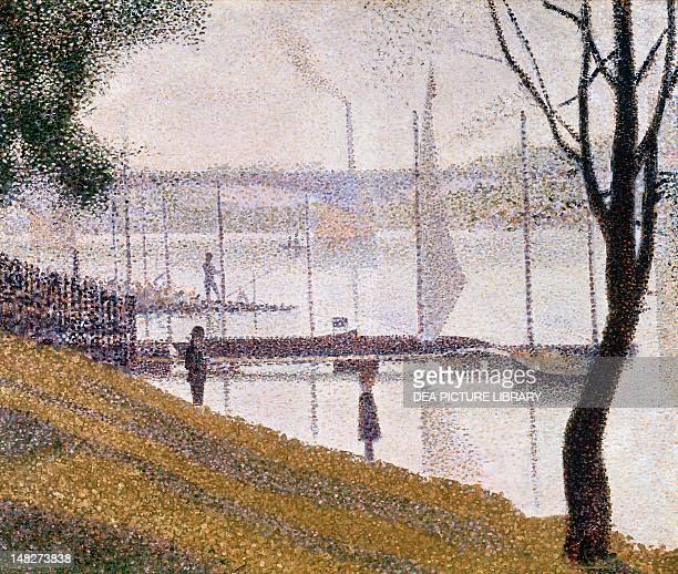 The Bridge at Courbevoie by Georges Seurat oil on canvas 46x55 cm London Courtauld Institute Of Art Gallery