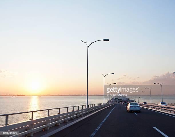 The bridge on Tokyo bay sunset
