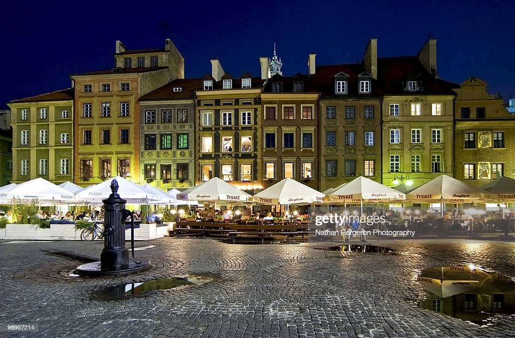 The Bright Lights of Warsaw : Stock Photo