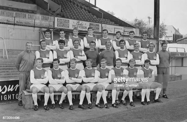 The Brighton and Hove Albion FC team and staff 15th August 1967 The team included Tony Burns Eric Whitington Dane Turner Roger Badminton John...