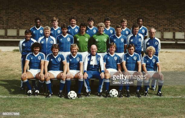 The Brighton and Hove Albion squad pictured before the 1983/84 season Back row left to right Terry Connor Gary Howlett Gerry Ryan Giles Stille Graham...