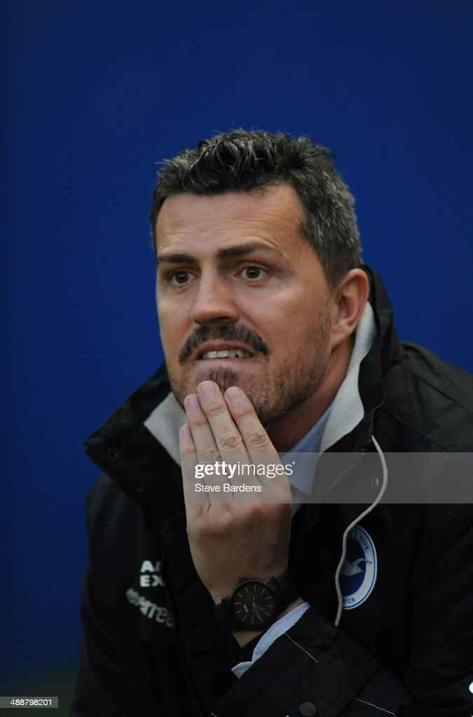 The Brighton & Hove Albion manager Oscar Garcia before the Sky Bet Championship Play Off semi final first leg match between Brighton & Hove Albion and Derby County at Amex Stadium on May 8, 2014 in Brighton, England.