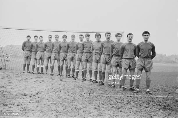 The Bristol City FC football team including Jantzen Derrick Fred Ford Bert Bush UK 4th February 1966