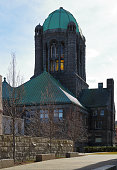 The Bristol County Courthouse in Taunton, Massachusetts, a formidable building