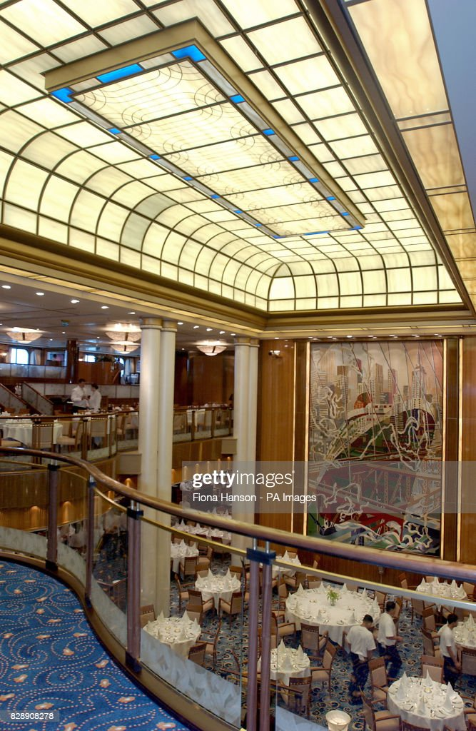The Britannia Dining Room On Worlds Biggest And Most Expensive Cunard Owned Cruise Liner