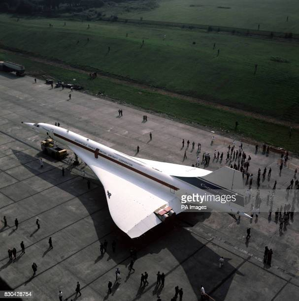 The British Airways Concorde 001 during its Filton rollout