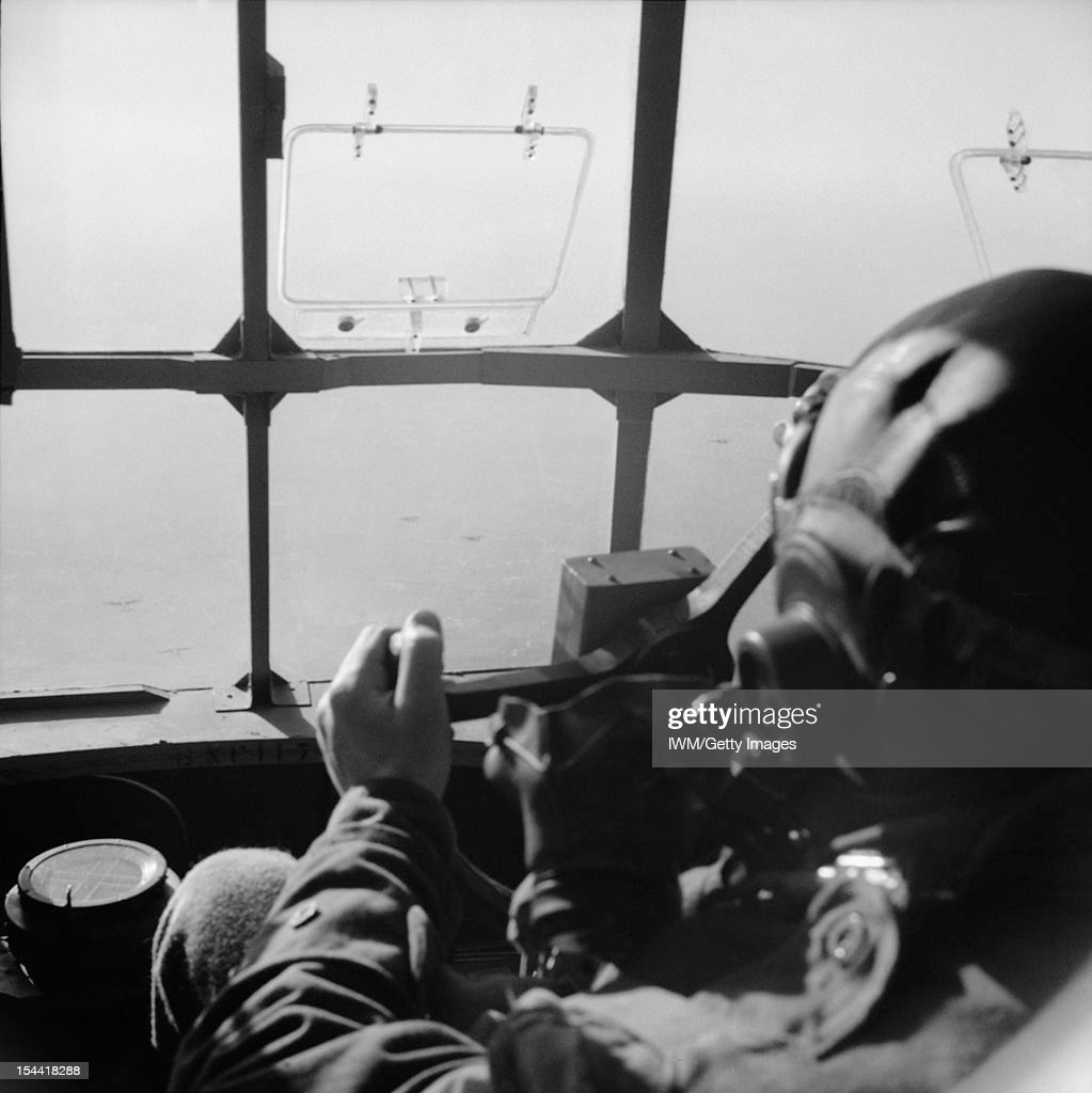 The British Army In North-West Europe 1944-45, View from the cockpit of a Horsa glider during the airborne drop east of the Rhine, 25 March 1945.