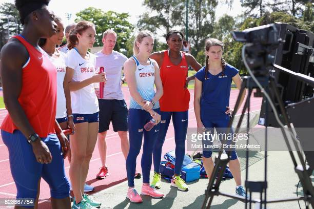 The British Athletics Womens 4x400m team train during the British Athletics Team World Championships Preparation Camp July 28 2017 The IAAF World...