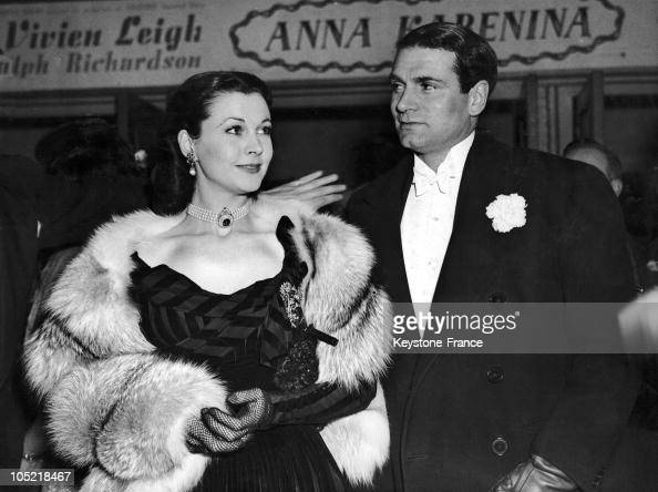 The British Couple Vivien Leigh And Sir Laurence Olivier At The Premiere Of The Film Anna Karenine At Leicester Square Garden In London On January 22...
