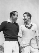 The British Davis Cup team Fred Perry and Bunny Austin Bournemouth 3th May 1936 Photograph