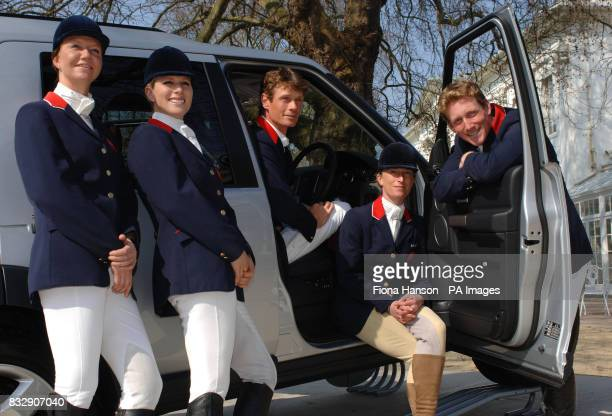 The British eventing team Sharon Hunt World Champion equestrian Zara Phillips who is a grand daughter of Queen Elizabeth II and the face of Land...