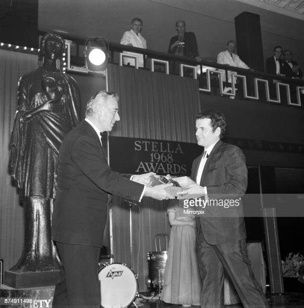The British Film Academy Awards presented by Lord Mountbatten at Grosvenor House Pictured Best Supporting Actor Ian Holm for 'The Bofors Gun'...